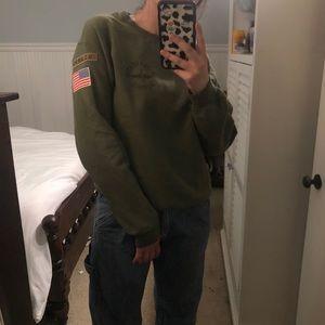topshop air force sweatshirt